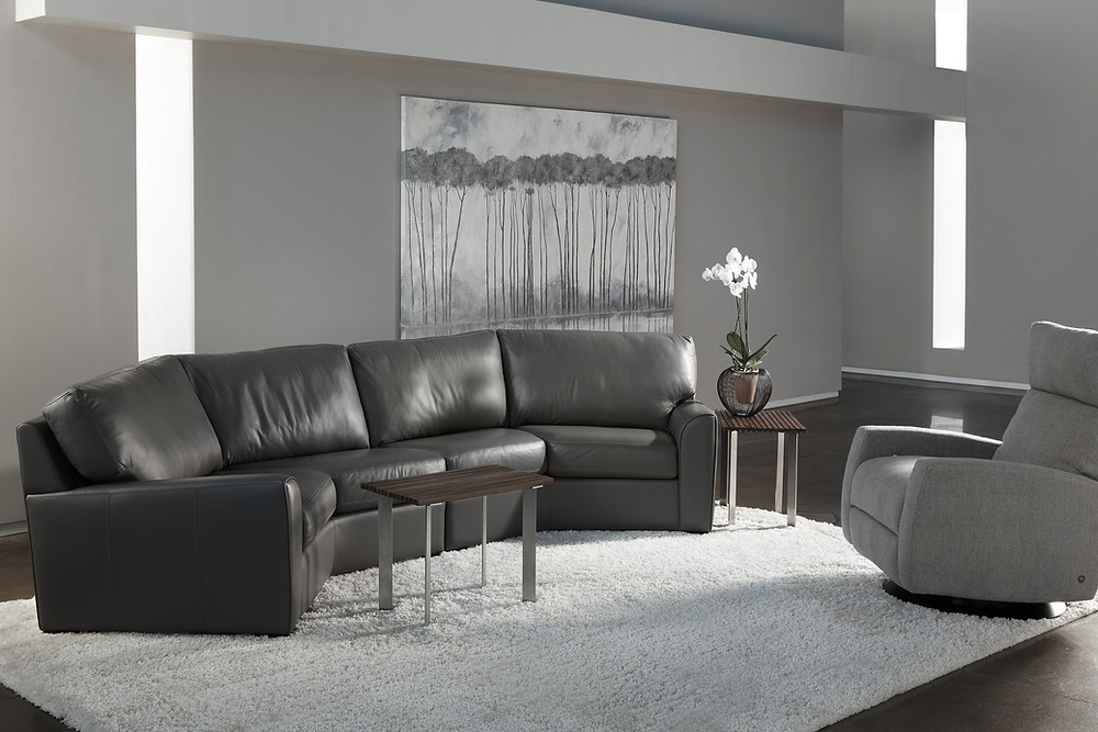 Kaden Sectional and Elliot Comfort Recliner by American Leather
