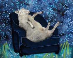 """YEAR OF THE SHEEP 12"""" x 16"""""""