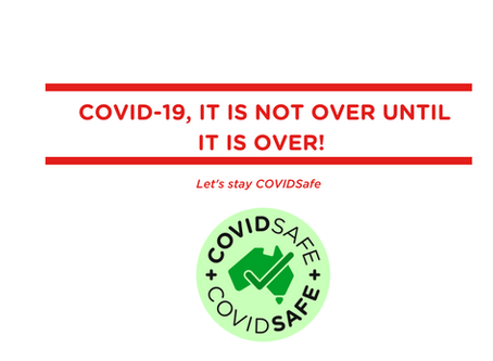 COVID–19, it is not over until it is over!