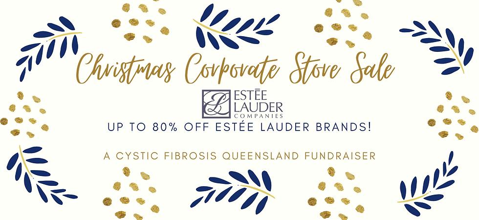 Estee Lauder fundraiser banner christmas