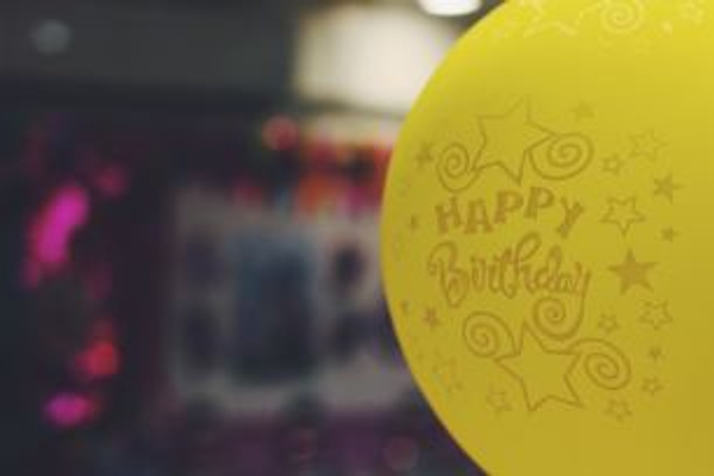 Happy Birthday Yellow Balloon