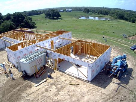 Volunteer Christian Builders at Miracle Farm in Brenham, TX
