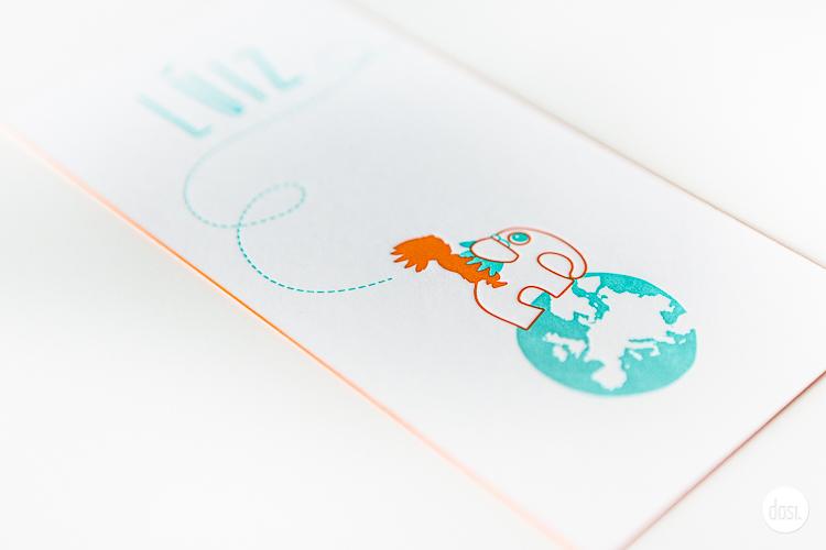 Geboortekaartje letterpress-Luiz