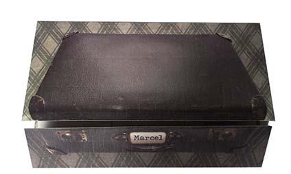 Geboortekaart retro koffer