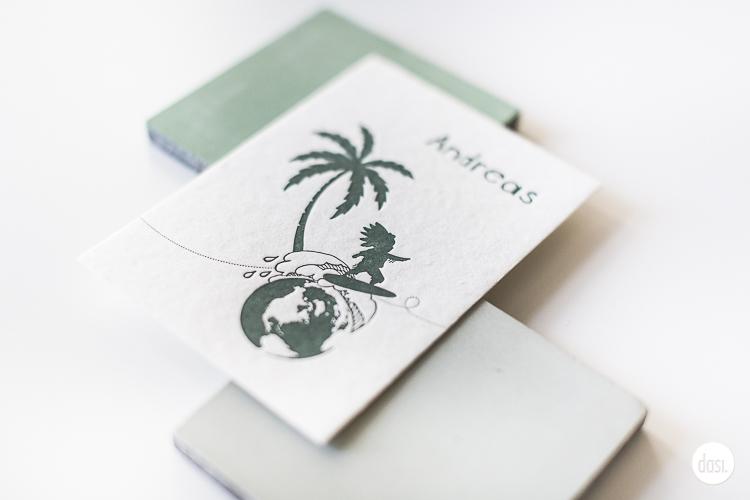 Geboortekaartje letterpress