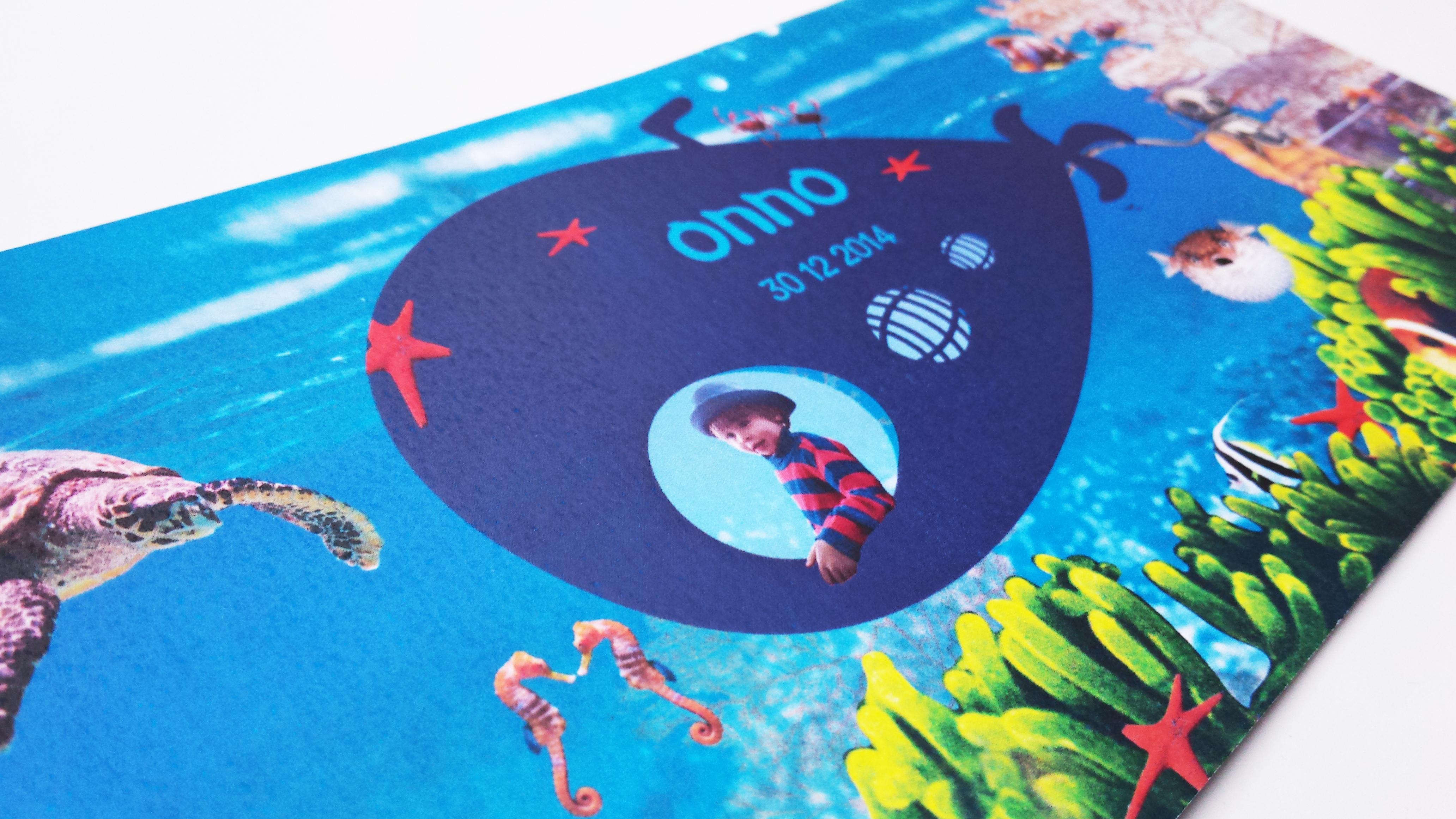 Geboortekaart onder zee