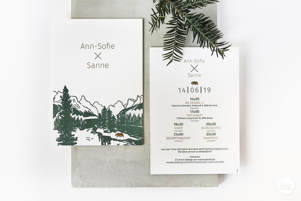 Uitnodiging letterpress Canada