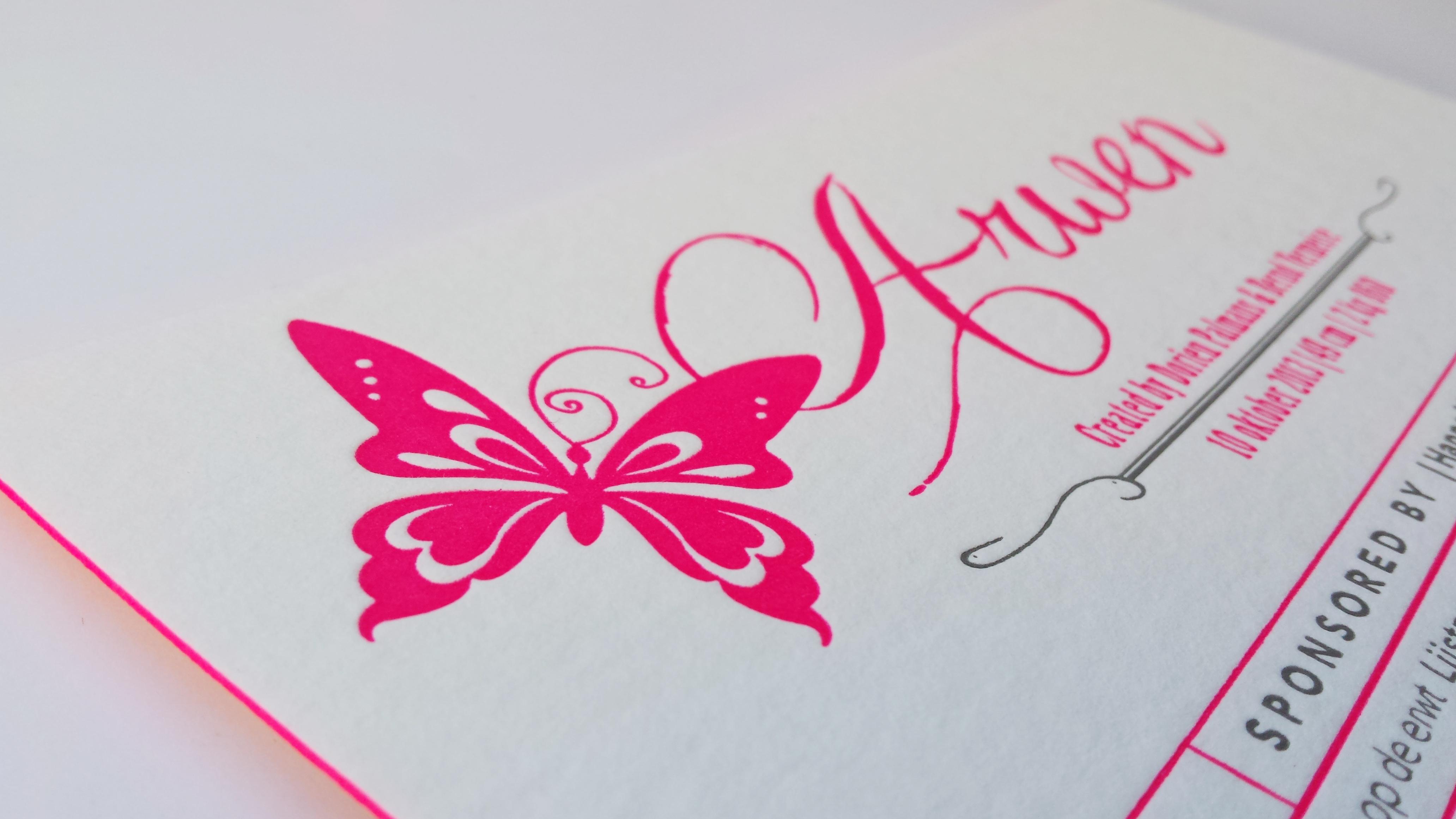 Geboortekaartje in letterpress - Arwen