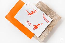 Geboortekaartje letterpress - Stella