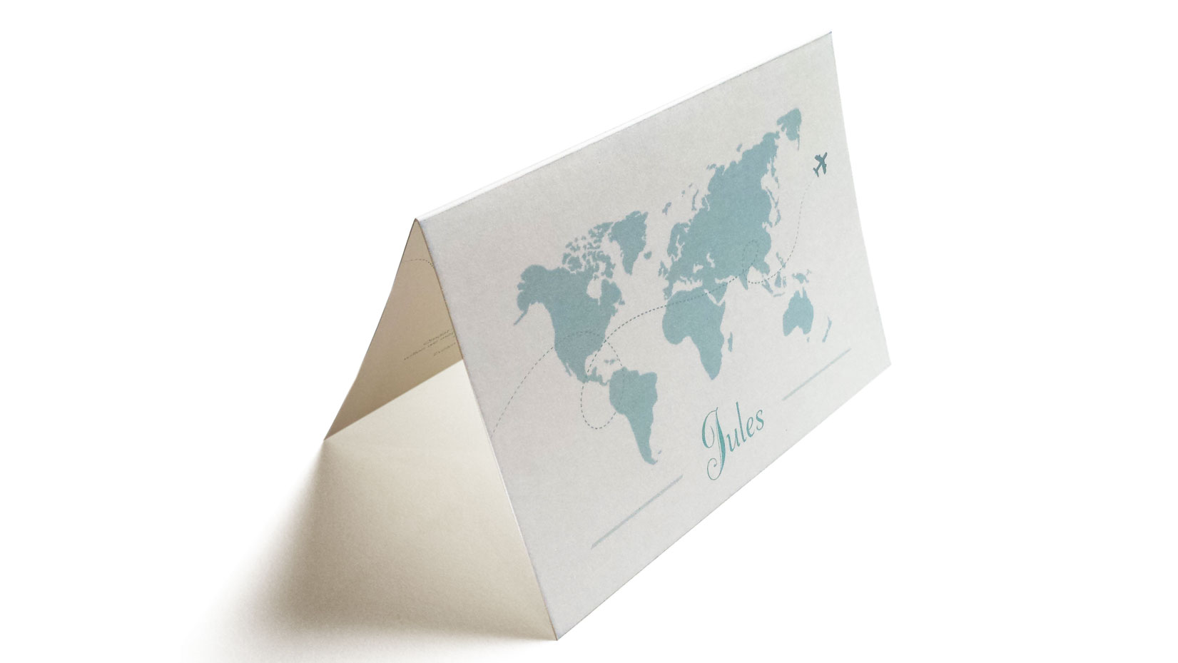 Geboortekaartje wereldkaart