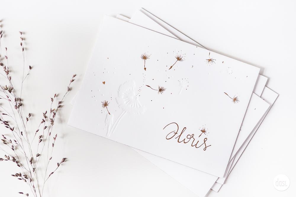 Geboortekaart dandelion
