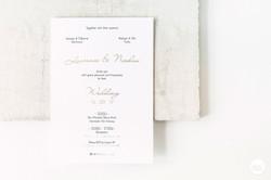 Uitnodiging letterpress goudfolie