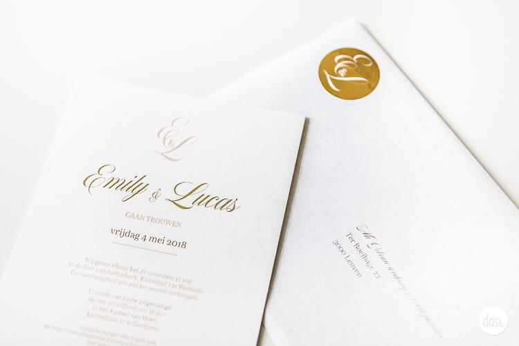 Huwelijksdrukwerk letterpress