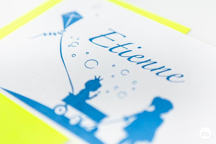 Geboortekaartje letterpress-Etienne