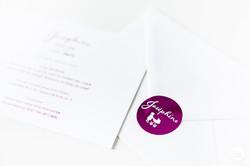 Geboortekaartje letterpress folie