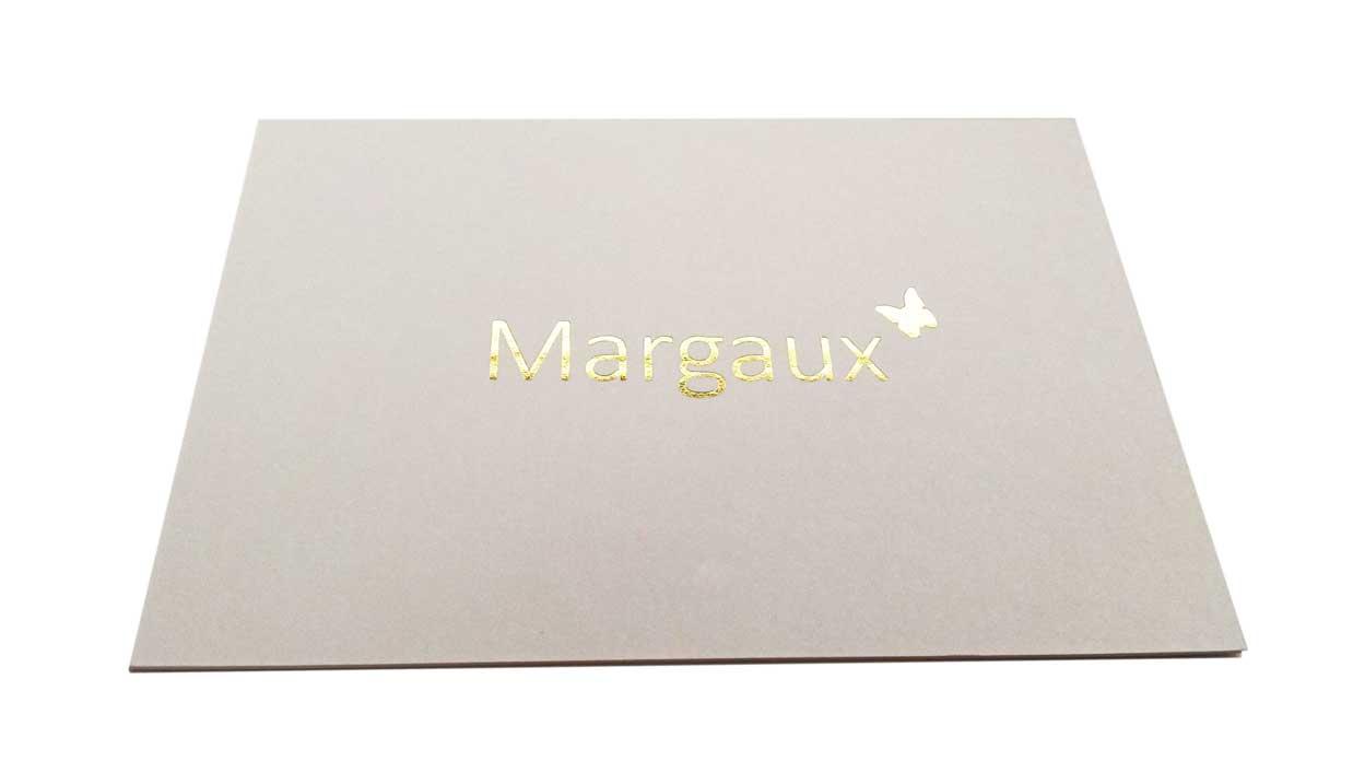Geboortekaartje foliedruk - Margaux