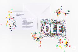 Geboortekaartje confetti
