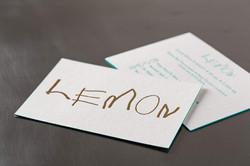 Geboortekaartje in letterpress - Lemon