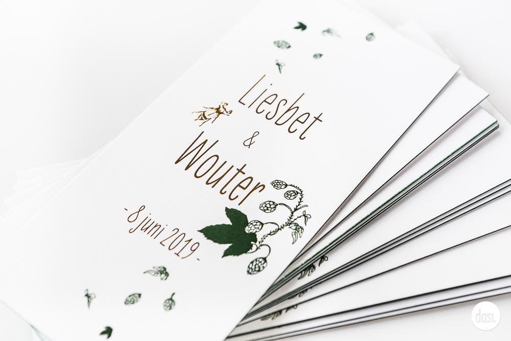 Huwelijksdrukwerk blaadjes en koper