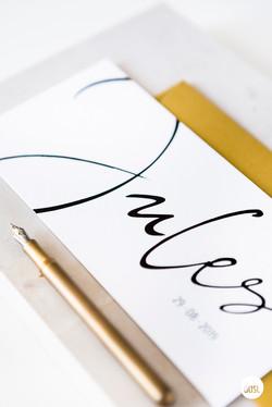 Handgeschreven geboortekaartje