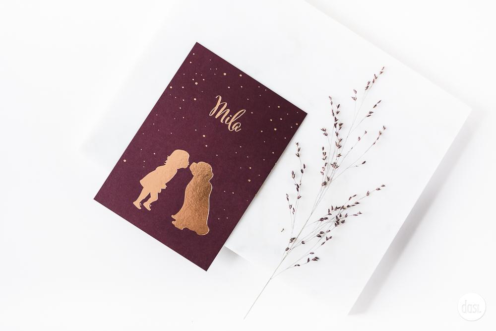 Geboortekaartje met hond
