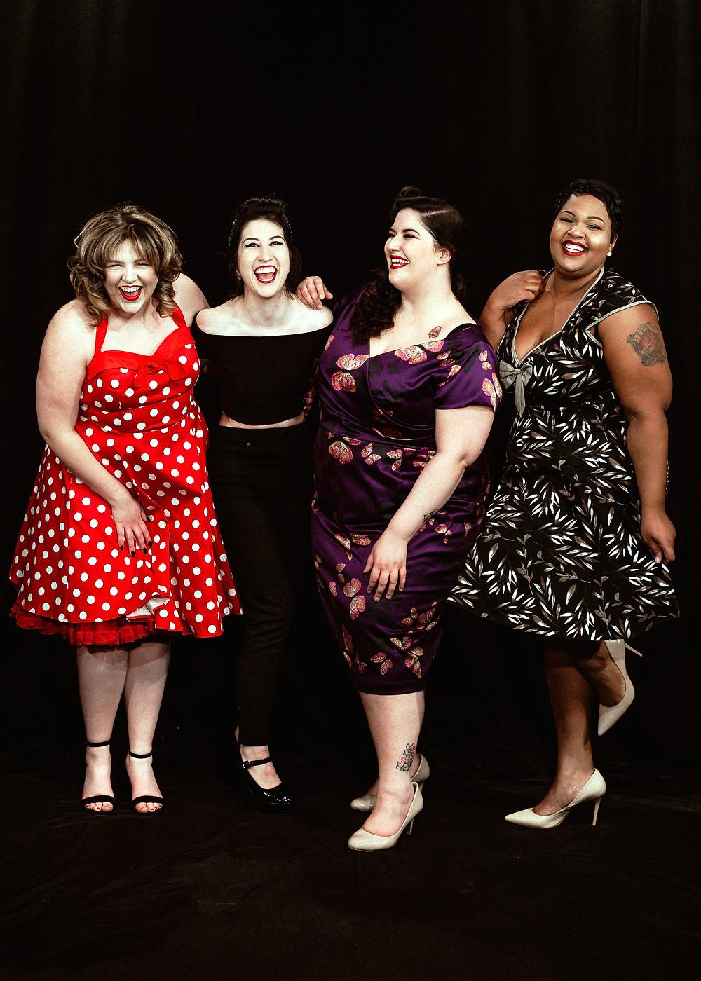 Janie Ruddell, Sophia Wnek, Faith Costa and Catherine Ashly. Photography by John Carlo