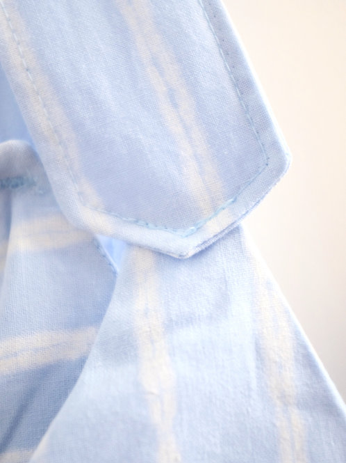BLUE STRIPE WASHED