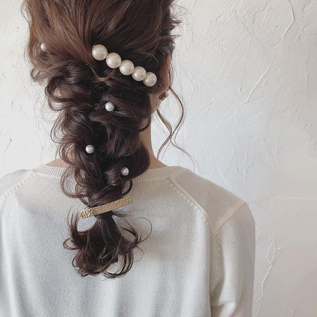 ・_guest  hair._✨✨ ・_結婚式に出席するお客様💒_編みおろしs