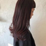 ・_guest  hair. ・_dark  red✨✨_可愛い赤髪😍パッツン