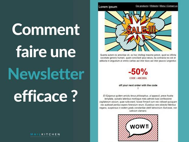 comment faire une newsletter efficace l 39 emailing avec mailkitchen blog. Black Bedroom Furniture Sets. Home Design Ideas