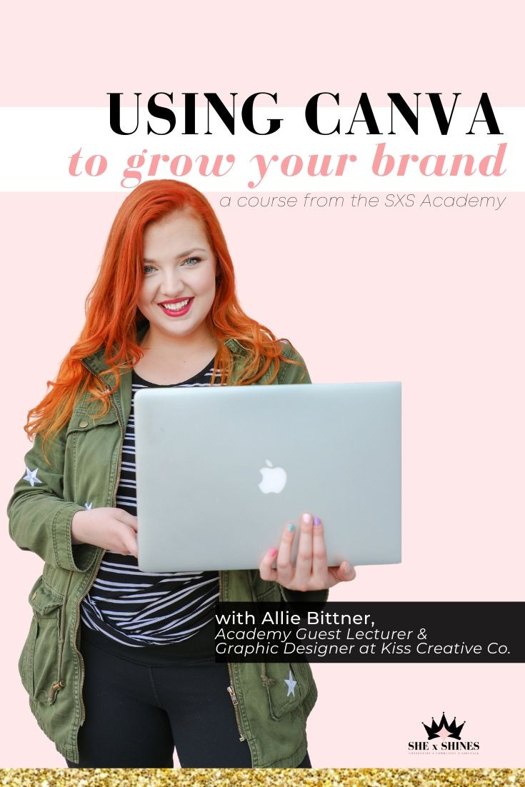 Learn from Allie in SHE x SHINES Academy as she teaches you how to master the graphic design basics that will allow you to be the boss behind your vision through every stage of growth and transformation. She will guide you through: need-to-know Canva functions the elements of art and principles of design how to create stunning graphics to grow your presence + attract your ideal audience.