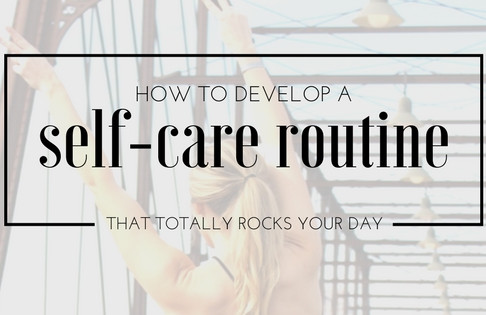 Creating a self-care routine