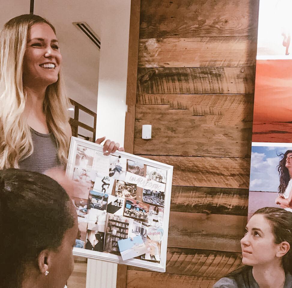 Hosting Vision Board Workshop @ Athleta