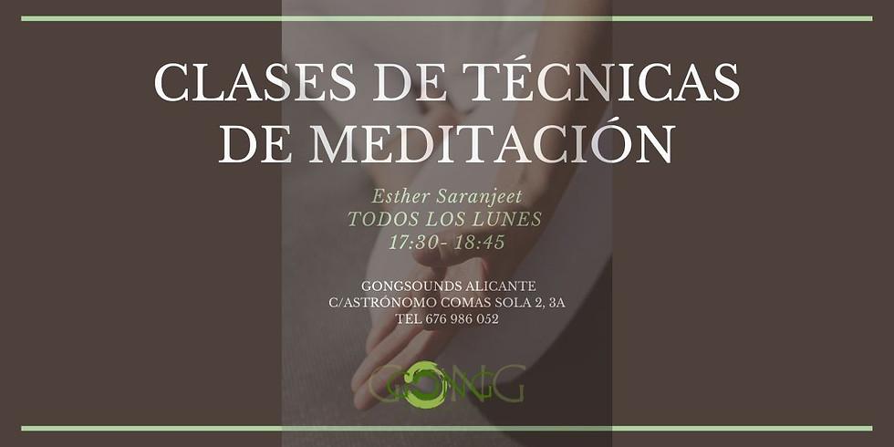CLASES DE TÉCNICAS DE MEDITACIÓN