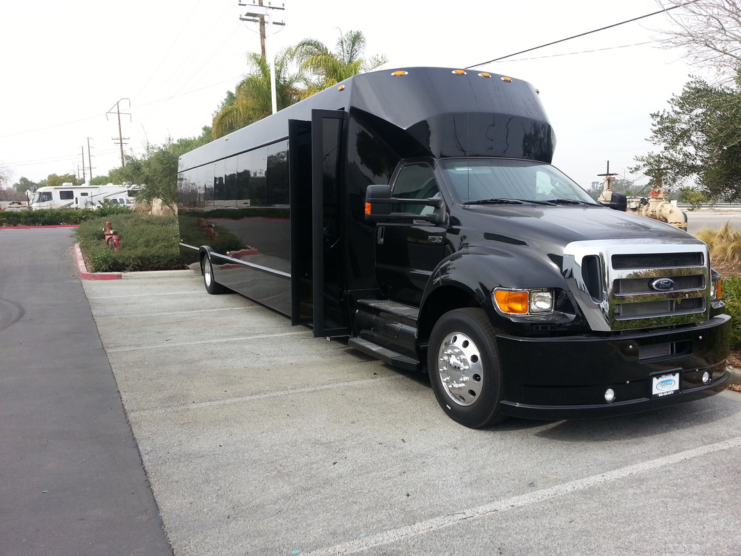 45 Passenger Black Party Bus Indiana