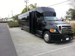 45 Passenger Black Party Bus Indiana
