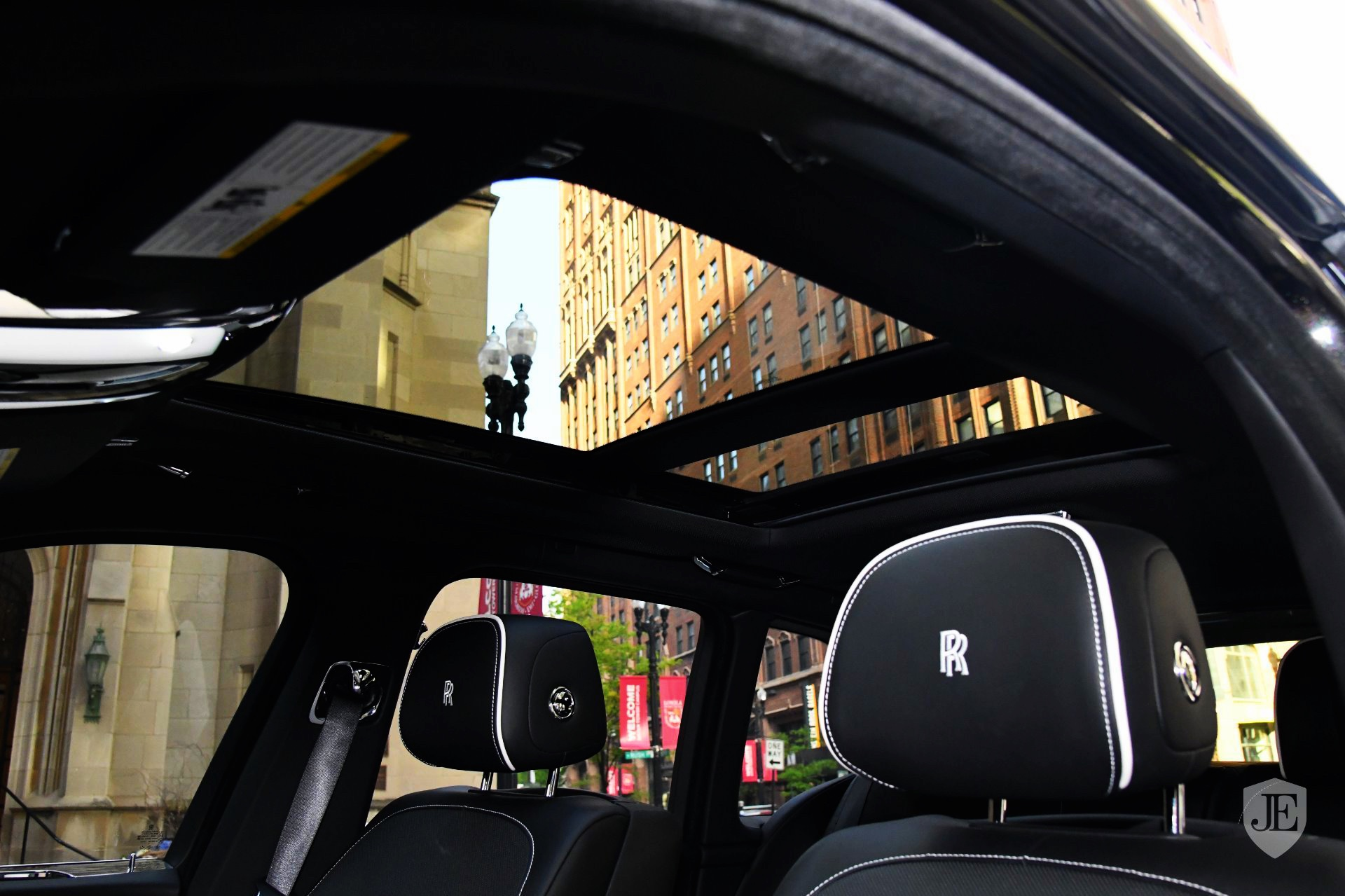 Interior of Black Rolls Royce SUV