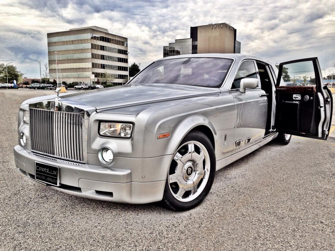 Silver Rolls Royce Phantom