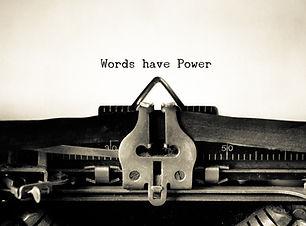 Words Have Power words  typed on a Vintage Typewriter. _.jpg