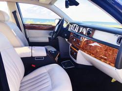 Interior of black Rolls Phantom.