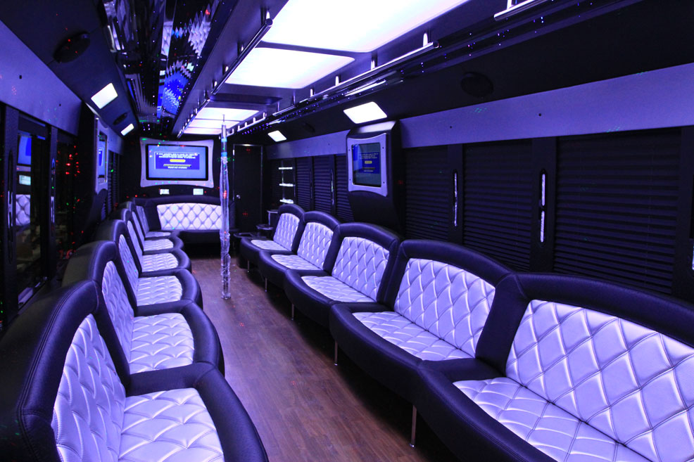 45 Passenger Black Party Bus Chicago