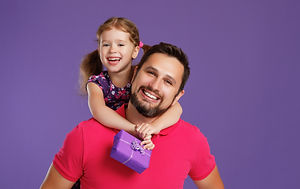 happy father's day! cute dad and daughte