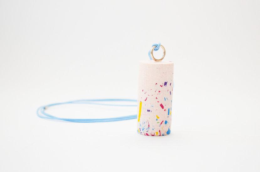 Jesmonite Cylinder Necklace