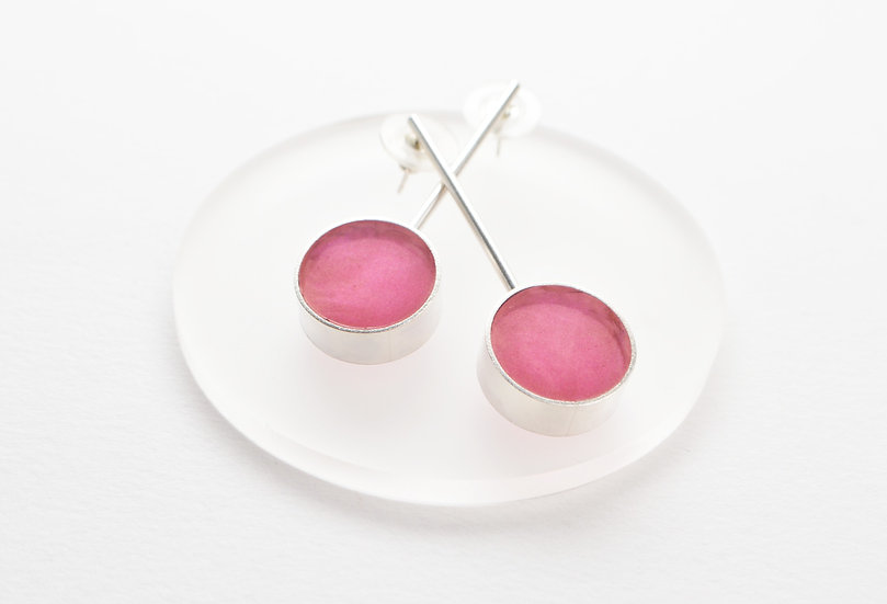 Statement Circle Drop Earrings