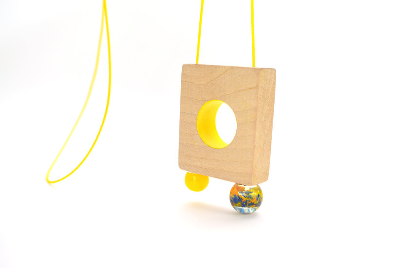 Yellow Portal Necklace