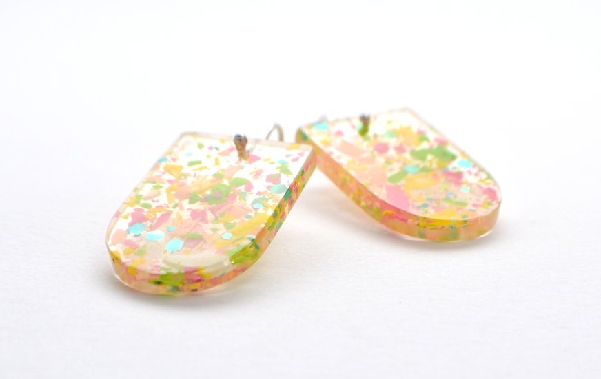Resin Panel Earrings