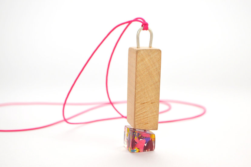 Cherry Wood Compound Necklace