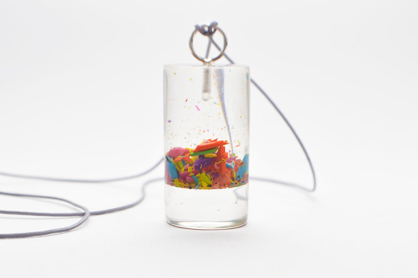 Large Resin Cylinder Necklace