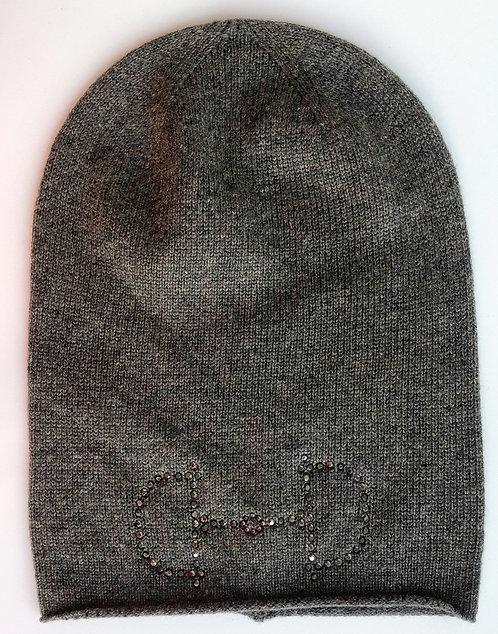 Cashmere Mütze braun