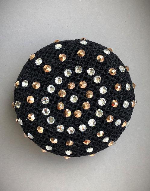 Haarnetz schwarz/roségold